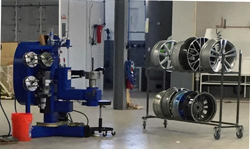 alloy wheel straightening equipment