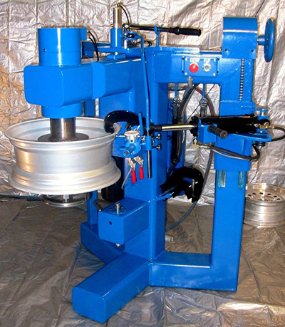 bent wheel repair machine
