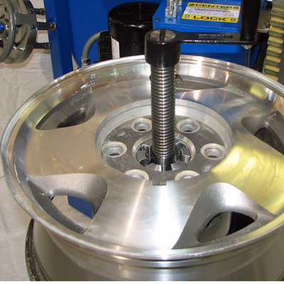 bent alloy wheel repair machine