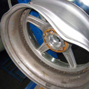 bent alloy wheel